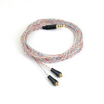 สายอัพเกรดหูฟัง BRAINWAVZ CANDY CANE SILVER PLATED BALANCED CABLE WITH MMCX CONNECTOR (2.5MM JACK)