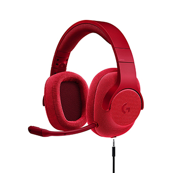 หูฟังเกมมิ่ง 7.1 Logitech G433 7.1 Wired Surround Headphone (Red)