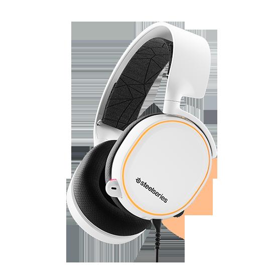 หูฟังเกมมิ่ง 7.1 SteelSeries Arctis 5 RGB 7.1 DTS Headphone (White)