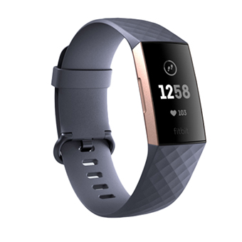 Fitbit Charge 3 Our most advanced tracker ever (สีน้ำเงินเทา/สีทองชมพู)