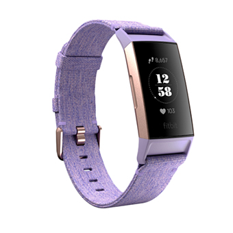 Fitbit Charge 3 Our most advanced tracker ever : Special Editions Include (สีลาเวนเดอร์/สีทองชมพูอลูมิเนียม)