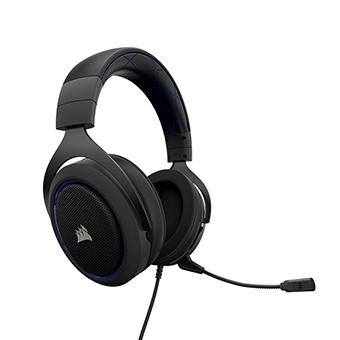 Corsair HS50 Stereo หูฟัง Gaming Headset (สีน้ำเงิน)