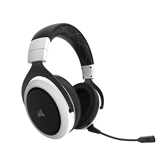 Corsair HS70 SURROUND หูฟังไร้สาย WIRELESS Gaming Headset (White)