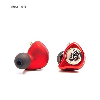 TFZ King II หูฟัง IEM ระดับ Audiophile ถอดสายได้ ไดร์เวอร์ graphene (สีแดง)