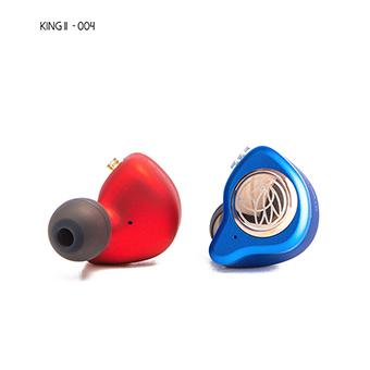 TFZ King II หูฟัง IEM ระดับ Audiophile ถอดสายได้ ไดร์เวอร์ graphene (สีแดง/น้ำเงิน)