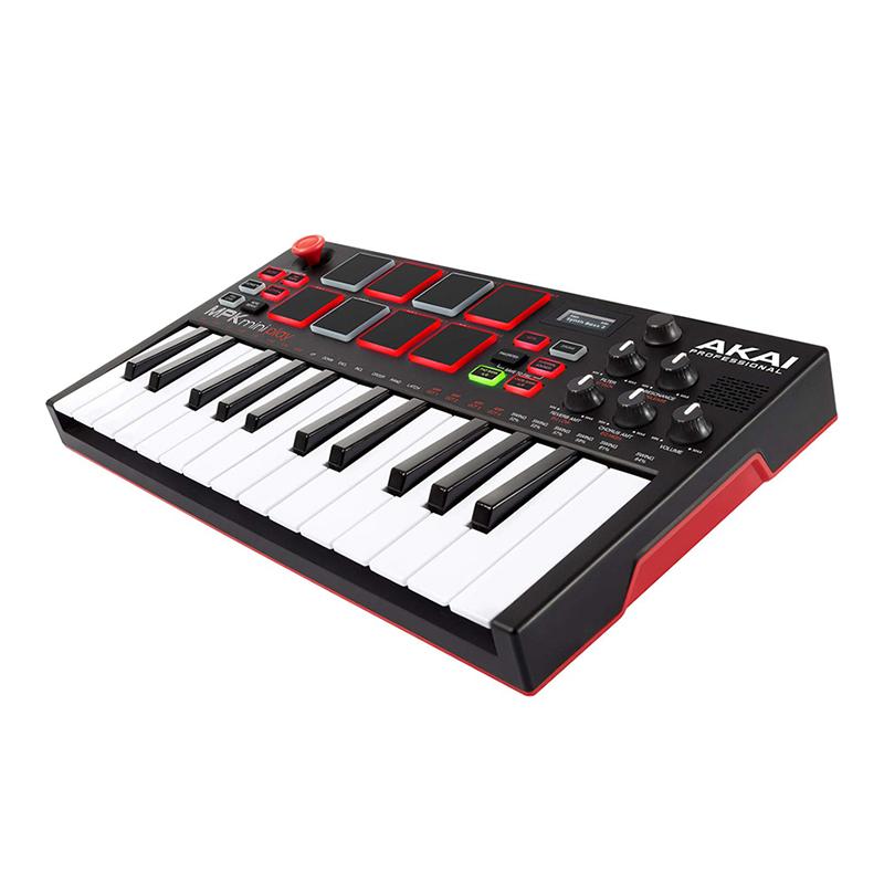 คีย์บอร์ด AKAI MPK MINI PLAY Mini Controller Keyboard with Built-in Speakers