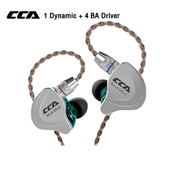 หูฟัง CCA C10 Hifi Hybrid 5 Drivers In-ear Earphone (Green)