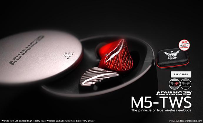 เปิด Pre-order หูฟังไร้สาย True wireless แบรนด์ ADVANCED รุ่น M5-TWS ราคา 6,990 บาท