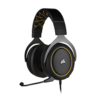หูฟังเล่นเกม Corsair HS60 PRO SURROUND Gaming Headset (Yellow)