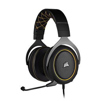 หูฟังเล่นเกม Corsair HS60 PRO SURROUND Gaming Headset (Yellow)