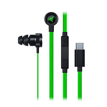 หูฟัง Type-C Razer HAMMERHEAD USB-C Custom-tuned DAC for clean