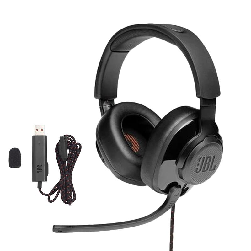 หูฟังเกม JBL Quantum 300 Hybrid wired over-ear gaming headset with flip-up mic