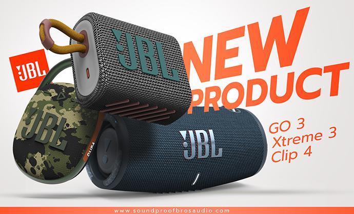 ลำโพงบลูทูธ แบรนด์ JBL รุ่นใหม่ออกแล้ว! JBL GO 3, JBL Xtreme 3, JBL Clip 4 ออกรุ่นใหม่แล้ว สวยสุดๆไปเลยละครับ