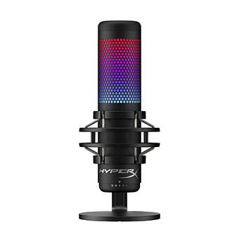 ไมโครโฟน USB HyperX QuadCast S USB Condenser Gaming Microphone ปรับแต่งสีไฟ RGB