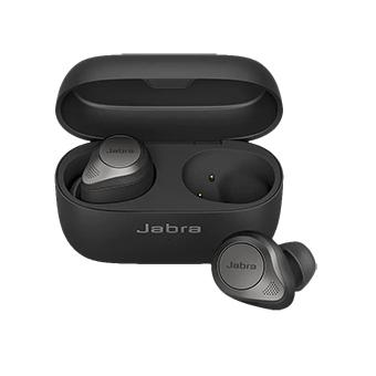 หูฟังไร้สาย Jabra Elite 85t True Wireless Noise-Cancelling Earbuds (Titanium Black)