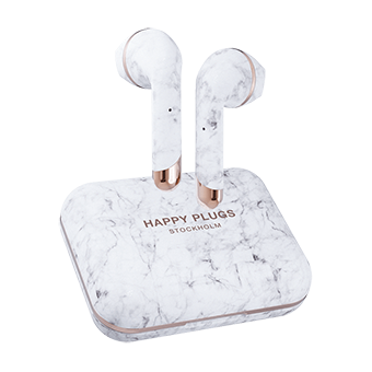 หูฟัง Happy Plugs AIR 1 PLUS EARBUD [White Marble]