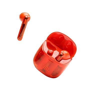 หูฟัง JBL T225 TWS true wireless Bluetooth stereo headset with mic and charging case Wireless Earbuds (Orange)