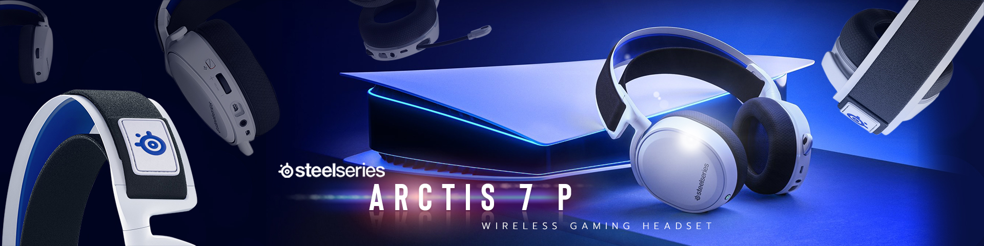 PlayStation Steelseries Arctis 7 P Wireless Gaming Headset for PlayStation