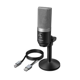 ไมโครโฟน FIFINE K670 USB MICROPHONE FOR STREAMING PODCASTING (Silver)