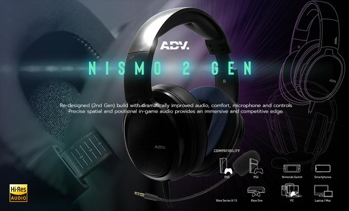 หูฟังเกมมิ่งรุ่นใหม่ล่าสุด ADV Nismo Over-ear Gaming Headset (2nd Gen) คุ้มจัดบอกเลยยย!!!