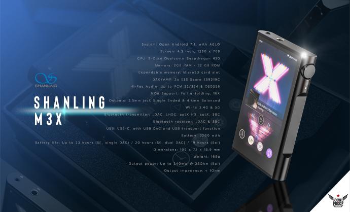 Shanling M3X เครื่องเล่นเพลงพกพาระบบ Android ใหม่ล่าสุดที่รองรับ Hi-Res มาพร้อมกับชิปทรงพลังและเป็นที่ต้องการของตลาดมากที่สุด