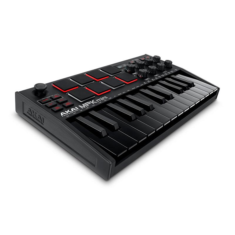 คีย์บอร์ด AKAI MPK MINI MK III [3] Compact Keyboard and Pad Controller (Special Black)