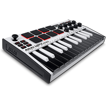 คีย์บอร์ด AKAI MPK MINI MK III [3] Compact Keyboard and Pad Controller (Special White)
