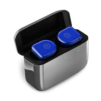 หูฟังไร้สาย Master & Dynamic MW08 Active Noise-Cancelling True Wireless Earphones (Blue Ceramic / Polished Graphite Case)