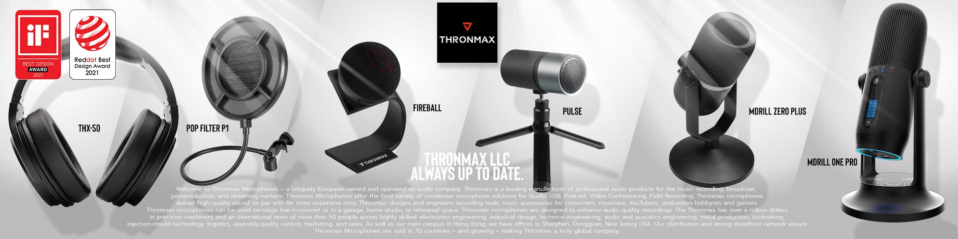 Thronmax USB Microphones / Headphones / Filter