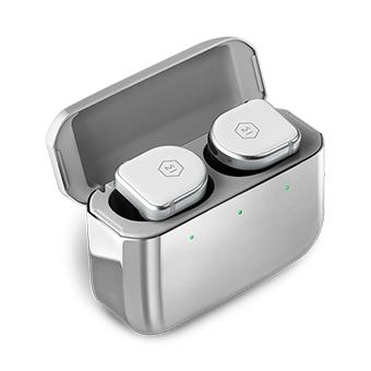 หูฟังไร้สาย Master & Dynamic MW08 Active Noise-Cancelling True Wireless Earphones (White Ceramic / Stainless Steel Case)