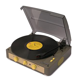 เครื่องเล่นแผ่นเสียง Gadhouse Brad Retro ( Color : Grey )