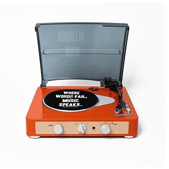เครื่องเล่นแผ่นเสียง Gadhouse Brad Retro ( Color :  Tangerine )