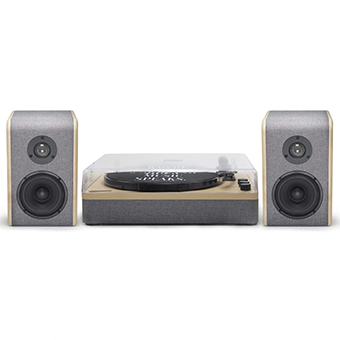 Gadhouse DEAN Haze Grey Turntable stereo system